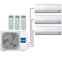 Мульти система на 3 комнаты Haier AS07BS4HRAх2+AS18BS4HRA/3U24GS1ERA