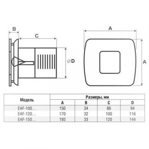 Вытяжной вентилятор Electrolux EAF-150T